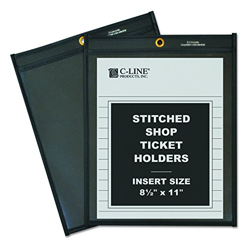 (C-Line Shop Ticket Holders, Stitched, One Side Clear, 8-1/2