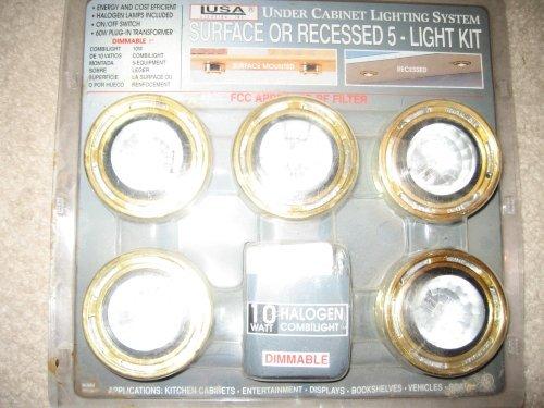 Under Cabinet Lighting System Recessed 5-light Kit Brass