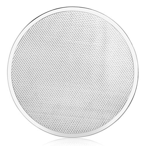 New Star Foodservice 50974 Seamless Aluminum Pizza Screen, Commercial Grade, 16-Inch, Pack of 6