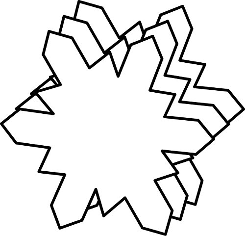 Snowflake Small Single Color Creative Cut-Out
