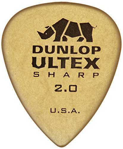 Dunlop Shell (Dunlop 433P2.0 Ultex Sharp, 2.0mm, 6/Player's Pack)