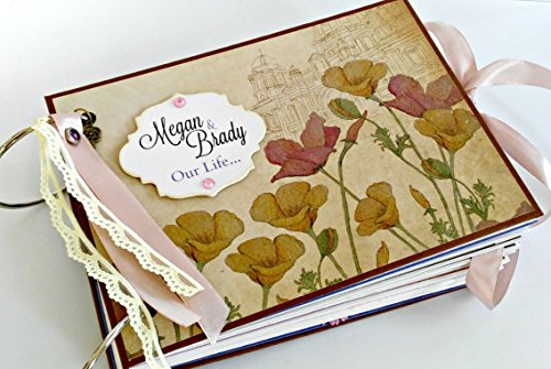 Kristabella Creations Wedding Album, Wedding Scrapbook Album, Custom Wedding Photo Album, Wedding Memory Book, size A5, 20 pages