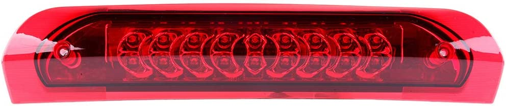 LUJUNTEC High Mount Brake Light Assembly Automotive Tail Lights Smoke Lens Replacement fit for 2002-2009 DODGE RAM