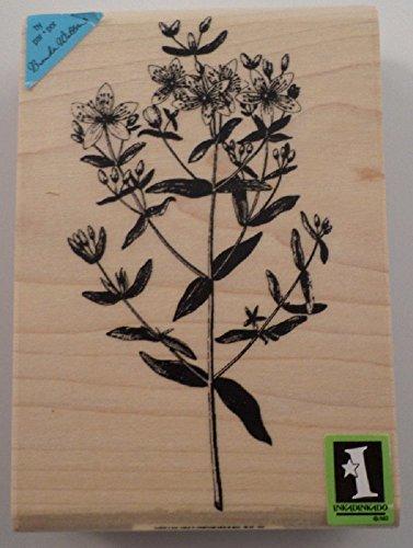 Inkadinkado Garden Botanical Wild Flowers Wooden Rubber ()