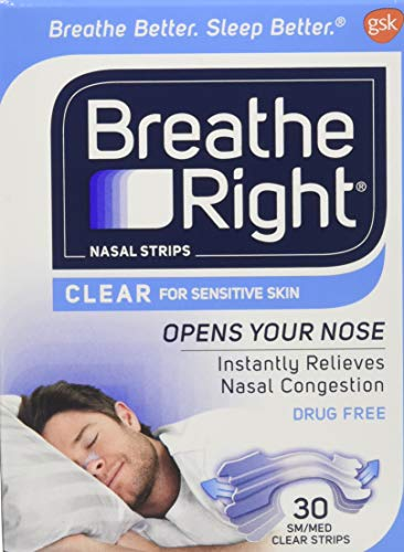 (Breathe Right Nasal Strips Clear Small/Medium 30 Each (Pack of 2))