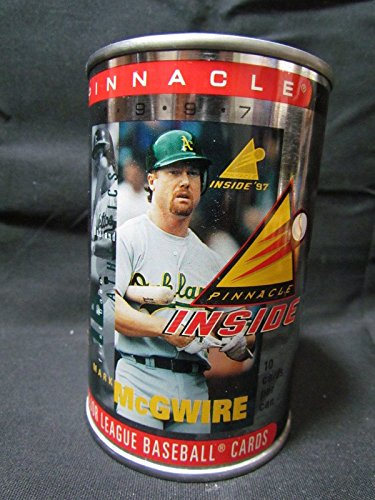 Granny's Best Deals (C) 1997 Inside Pinnacle Mark McGwire Collectible Unopened Can with 10 random trading cards-New! - Mark Mcgwire Insert