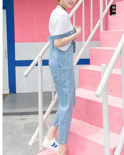 Quge Jeans Elásticos Vaqueros Overalls Tirantes Zarco Bordado Pantalones Mujer Denim wrYOaxnrX