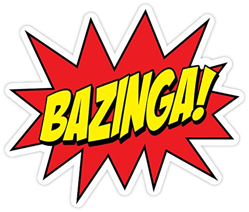 amazon com bazinga big bang theory 4 x 4 sticker decal vinyl rh amazon com bazinga logo png bazinga logo