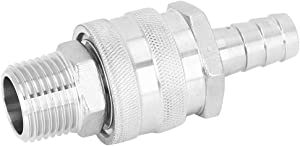 Convenient Home Brew Fitting Connector NPT1/2in Quick Disconnect Barb, Barb, Small for Plate Wort Chillers Kettle Stock Pot Wort Pumps Ball Valve