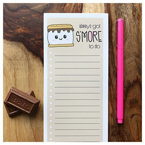 Funny To Do List Gift | Always Got S'more To Do | Pun | Busy Notepad | 50 sheets | Optional - Camping List Packing