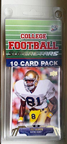 Star Page Kit - 10 card pack college football notre dame fighting irish different superstars starter kit