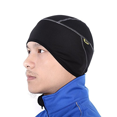 - Santic Cycling Windproof Thermal Skull Cap and Helmet Liner Bicycle Fleece Hat