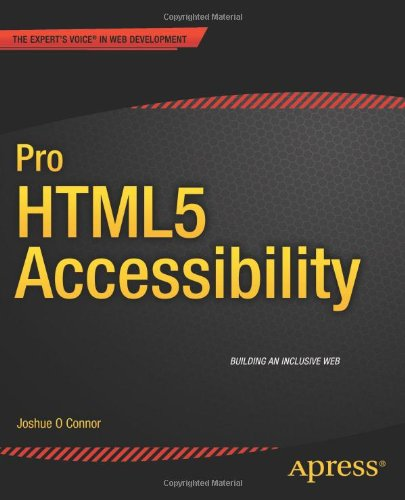 Pro HTML5 Accessibility Front Cover