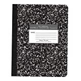 Roaring Spring Hard Cover Composition Book, 9 3/4'' x 7 1/2'', Wide Ruled, 80 sheets