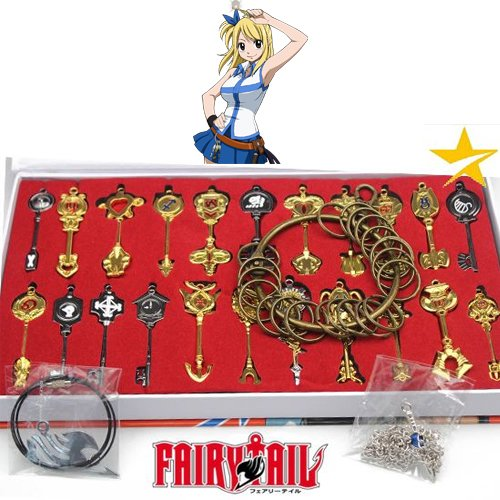 FAIRY TAIL LUCY JUEGO LLAVES SPIRITI WARS 22 LLAVES COLLARES ...