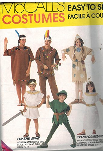 7745 McCalls Sewing Pattern UNCUT Mens Womens Halloween Costume Indian Scarecrow Cleopatra Mark Antony Size -