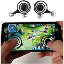 Mobile Game Joystick, Mini Touch Screen Joypad Tablet Controller for Android Iphone and Ipad (2 pcs)