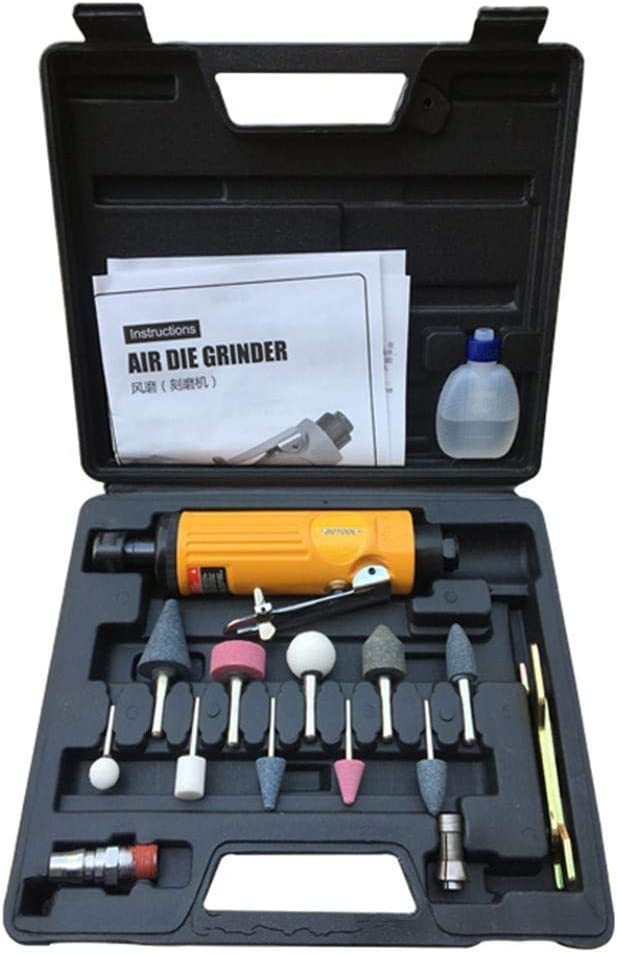 Kit dOutil dAir Grinder Air Broyeur de Fili/ère Electrique Outil Pneumatique pour le Broyage Chanfreinage Polissage