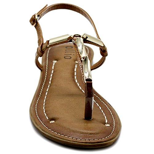 Zori Metallic Women's Ollio Sandal Camel Flat Comfort T Strap Shoe xq1aEY7Za