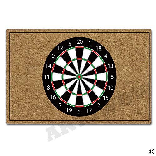 (Artswow Welcome Door Mat Darts Target Funny Doormat Entrance Floor Mat with Non-Slip Rubber Backing Door Mat, 30 by 18 Inch)