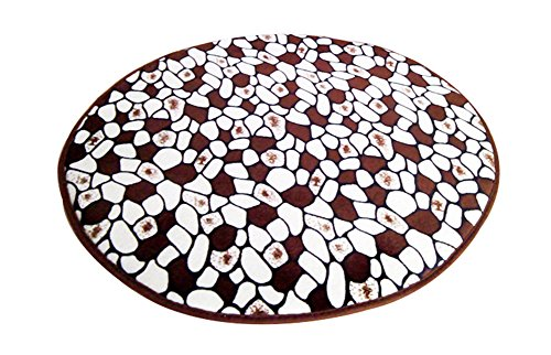 LivebyCare Multi-Size Print Round Carpet Area Floor Rug Doormat Coral Fleece Entrance Entry Way Front Door Mat Runner Ground Rugs for for Rest Room Presence Chamber ()