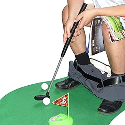 Toilet Golf Potty Time Putter Game - Funny Gag Gifts for Adults
