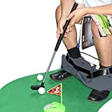 When you're sitting on the porcelain throne, thinking about philosophy, science, and the colonic impact of Mexican food, you can take a break and play a quick game of putt-putt. The SYZ comes with its own putter, green and hole, all in one. Y...