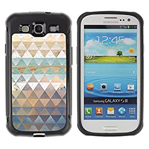 WAWU Funda Carcasa Bumper con Absorci??e Impactos y Anti-Ara??s Espalda Slim Rugged Armor -- polygon nature art pattern snow sea sky -- Samsung Galaxy S3 I9300