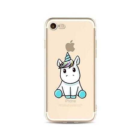Azul - unicornio iPhone 5\/5S\/SE MOSORIS Funda iPhone SE/iPhone
