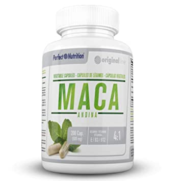 Maca Andina capsulas con vitaminas B12 E B3 pastillas natural suplemento vegano Mejora tu estado de ánimo potenciador de energía masculino/femenino ...