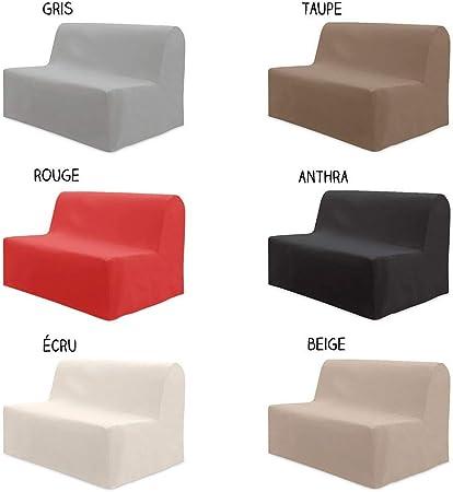 Dkdo Housse Pour Canape Bz 140 X 204 Cm Differents Coloris Gris