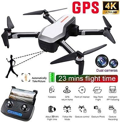 HWUKONG Aviones aéreos con Drones, cámara 4K HD, Drones con Video ...