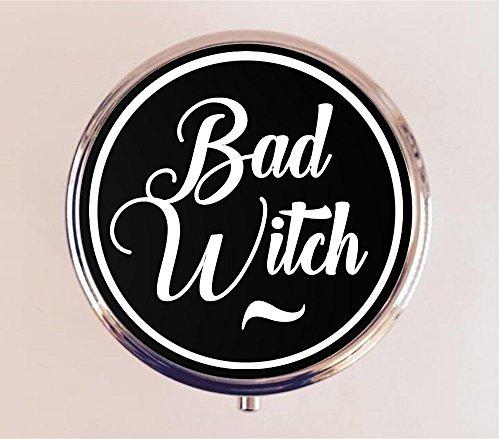 Bad Witch Pill box Pillbox Case Holder Stash Box Goth Witchcraft - Goth Bad
