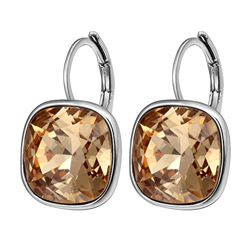 Xuping Fashion Jewelry Crystals from Swarovski Huggies Hoop Earring Valentine's Day Gifts(Yellow-Gold)