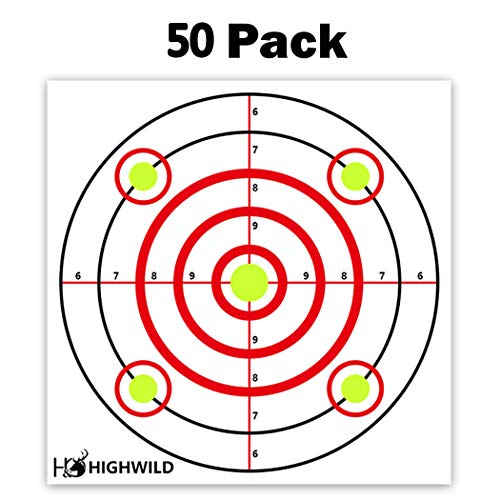 Air Rifle Paper - Highwild Paper Targets - 50 Pack - 10