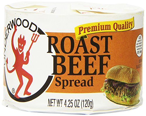 Sugar Free Spread - Underwood Roast Beef Spread, 4.25 Ounce (Pack of 24)