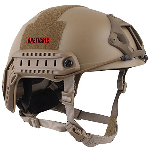 OneTigris MH Type Tactical Lightweight Fast Helmet for Airsoft Paintball (Tan)