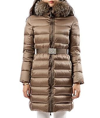 Wiberlux Moncler Tinuviel Women's Fuzzy Trim Hood Zip-Front Down Coat