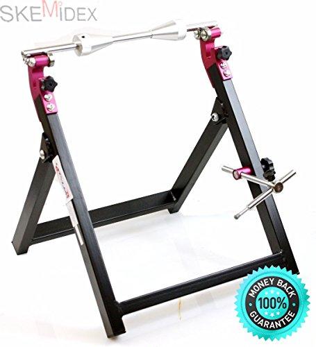SKEMiDEX---FOLDABLE MOTORCYCLE STAND WHEEL BALANCER & TRUING CHECK TRUE BALANCING MX STREET. Venom Sport Bike Dual Rear Spool & Front Fork Wheel Lift Stand