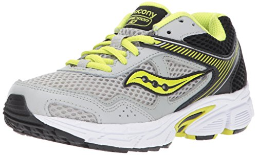 Saucony Boys' Cohesion 10 Lace Running Shoe Grey/Lime 3 Medium US Little Kid