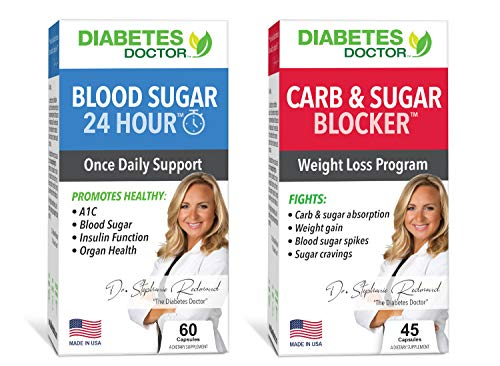 Diabetes Doctor A1C Bundle Pack - 24 Hour Daily Support & Mealtime Carb & Sugar Defense - Insulin & Weight Loss Support - 1 Month Supply 1