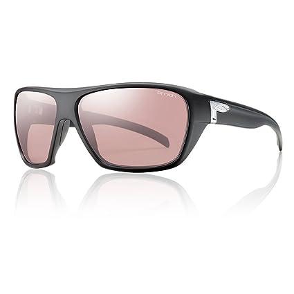 a447306d48 Smith Optics Chief Premium Performance Polarized Designer Sunglasses Eyewear  - Matte Black Chromapop Platinum