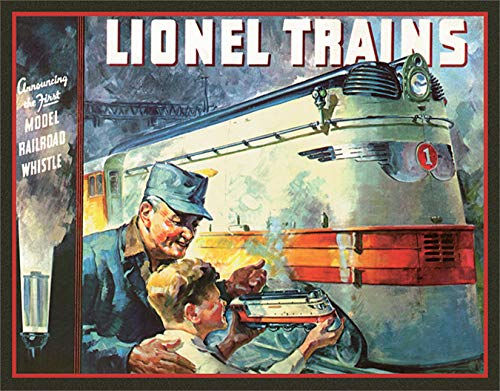 Desperate Enterprises Lionel Trains 1935 Cover Tin Sign, 16