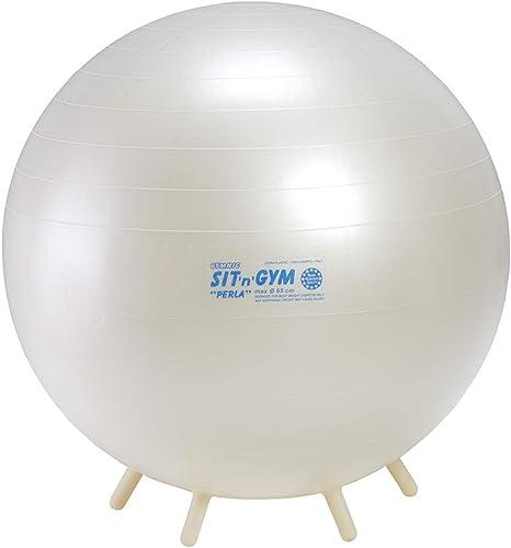 GYMNIC Sit n Gym Perla 65 – Balón de Gimnasia Perla Blanca ...