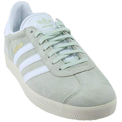 adidas Mens Gazelle Linen Green Footwear White Suede Trainers 10.5 US ()