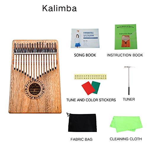 MG.QING Kalimba 17 Key Camphor Wood B-Tone Electronic Thumb Piano Mbira Kalimba Musical Instrument,A by MG.QING (Image #8)