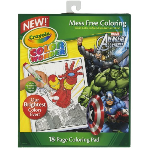 Crayola Color Wonder Coloring Pad Avengers (Wonder Color Paper Refill)