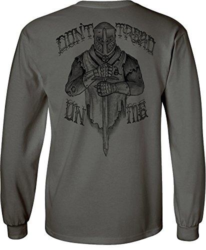 Crusader Long Sleeve - Longsleeve Crusader T-Shirt Charcoal - 3XL