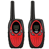 YZGE Walkie Talkies for Kids With Two Way Radio 22 Channel 3000M (MAX 5000M Open Field) Walkie Talkies for Kids Toys for Boys Girls Outdoor(Red,2Pack)