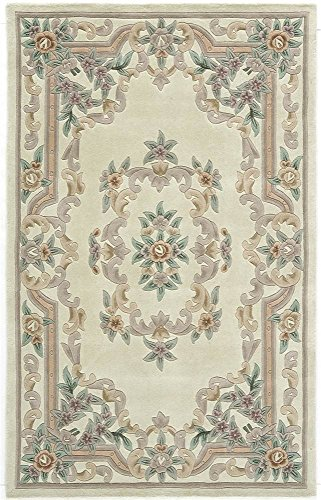 Wool Runner Aubusson (Rugs America New Aubusson Area Rug, 2-Feet 3-Inch by 10-Feet, Ivory)